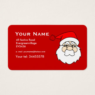 graphic Santa   in red Business Card