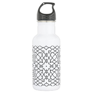 Graphic Scales Geometric Black and White Pring 18oz Water Bottle