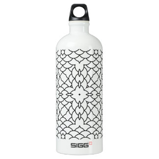 Graphic Scales Geometric Black and White Pring Water Bottle