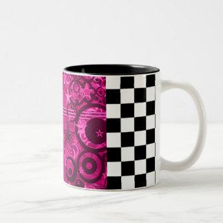 Graphic Shooting Stars Mug with Checkers