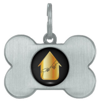 Graphic showing motivation pet ID tag