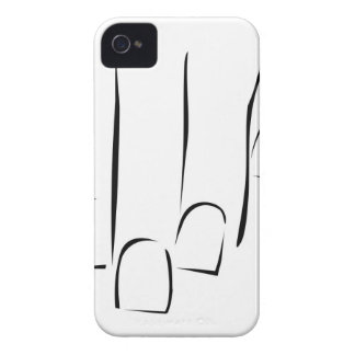 Graphic showing nail care or manicure iPhone 4 Case-Mate case