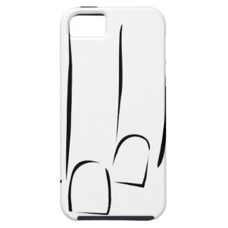 Graphic showing nail care or manicure iPhone SE/5/5s case