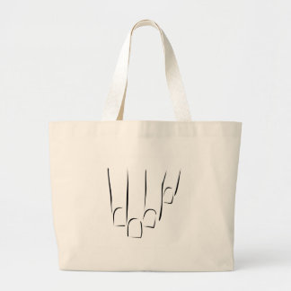 Graphic showing nail care or manicure large tote bag
