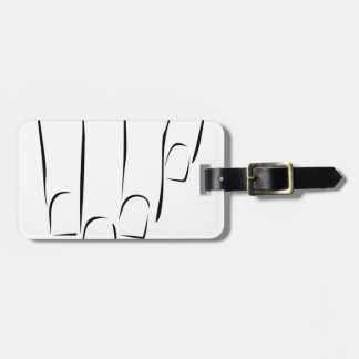 Graphic showing nail care or manicure luggage tag
