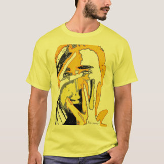 Graphic Silhouette Face & Hand Orange T-Shirt