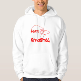 Graphic Smashed Red Car Hoodie