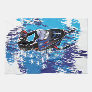 Graphic Snowmobiler Hand Towel