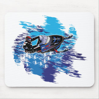 Graphic Snowmobiler Mouse Pad