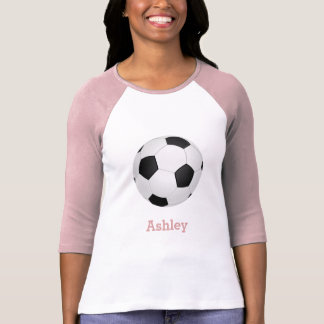 graphic soccer ball -add name T-Shirt