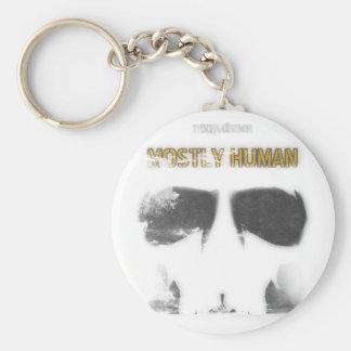 Graphic Stencil: Mostly Human Keychain