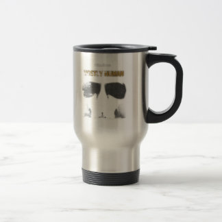 Graphic Stencil: Mostly Human Travel Mug