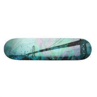 Graphic Storm Bridge blue Skateboard