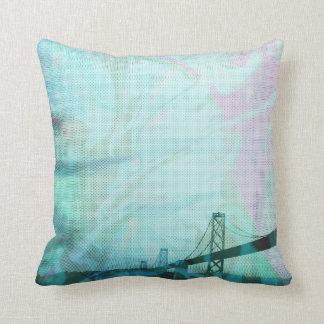 graphic stormed Bay bridge Pillows