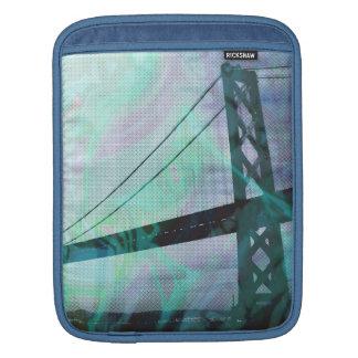 graphic stormed bridge iPad sleeves