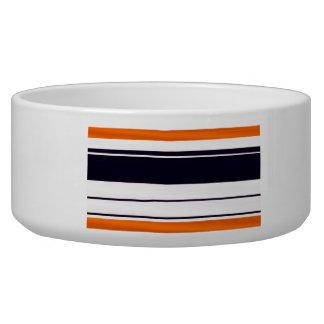 Graphic Stripe Design Pet Bowl