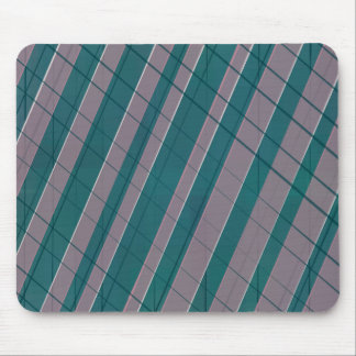 Graphic stripes in rose lilac teal mouse pad