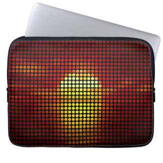Graphic sun dots in retro - Laptop Sleeves