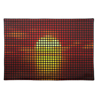 Graphic sun dots in retro - Placemats
