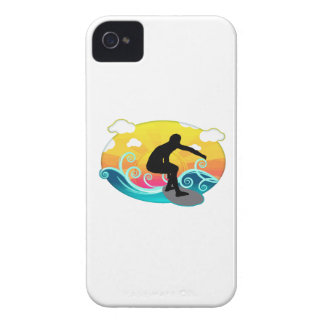 Graphic Sun, Ocean and Surfer iPhone 4 Cases