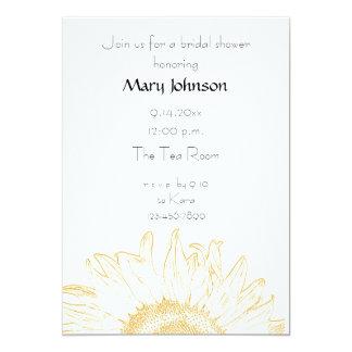 "Graphic Sunflower Bridal Shower Invitation 5"" X 7"" Invitation Card"