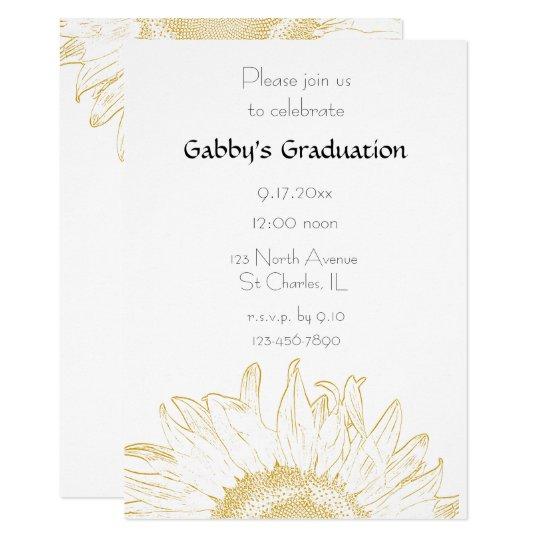 Graphic sunflower graduation party invitation zazzle graphic sunflower graduation party invitation filmwisefo