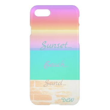 Graphic Sunset Beach | Personalized iPhone 8/7 Case