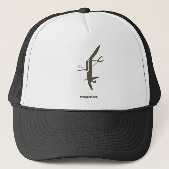 Graphic Swiss Army Knife Trucker Hat