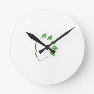 Graphic symbolizing organic hair spa wall clock