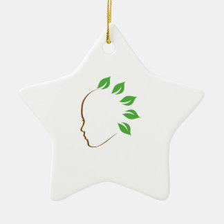 Graphic symbolizing organic hair spa christmas ornament