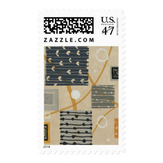 Graphic Tiles Postage Stamp