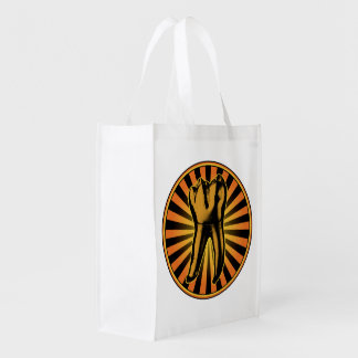 Graphic Tooth Emblem Grocery Bag