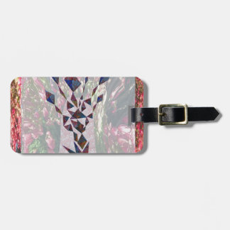 GRAPHIC TREE Patchwork of Papercut Art photography Luggage Tag
