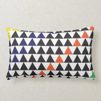 graphic triangle lumbar pillow