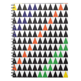 graphic triangle notebook