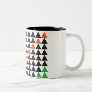 graphic triangle Two-Tone coffee mug