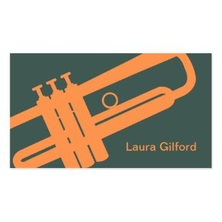 Graphic Trumpet Place Card / Business Card