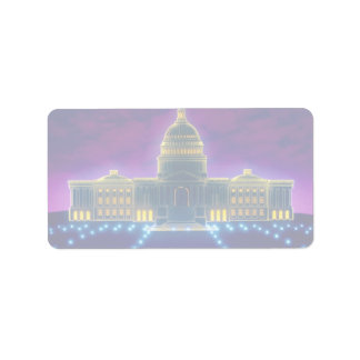 Graphic U S Capitol Address Label