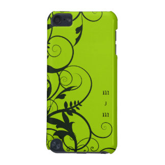 Graphic Vines Monogramed IPod Case