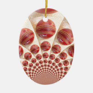 Graphic Vintage Cricket Game of Champions.jpg Ceramic Ornament