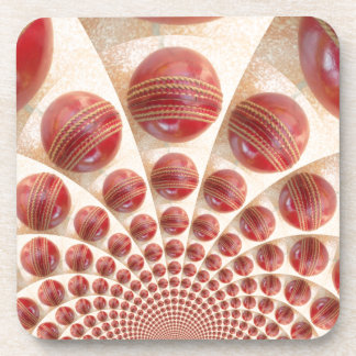 Graphic Vintage Cricket Game of Champions.jpg Drink Coaster