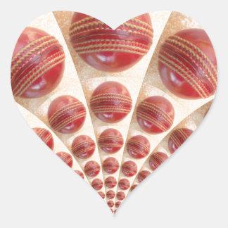 Graphic Vintage Cricket Game of Champions.jpg Heart Sticker