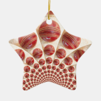 Graphic Vintage Cricket Game of Champions.jpg Double-Sided Star Ceramic Christmas Ornament