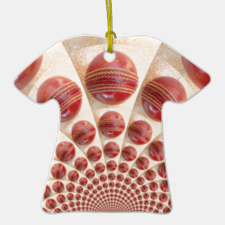 Graphic Vintage Cricket Game of Champions.jpg Double-Sided T-Shirt Ceramic Christmas Ornament