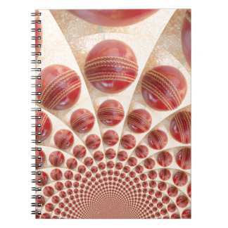 Graphic Vintage Cricket Game of Champions.jpg Spiral Notebook