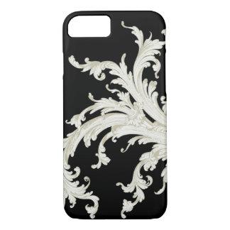 Graphic Vintage Flourish Black and White iPhone 7 Case