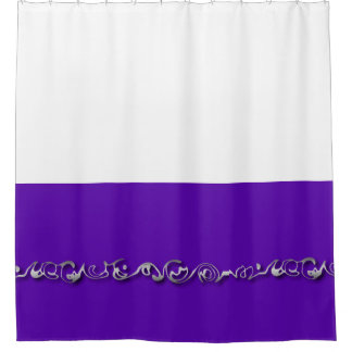 Graphic waves shower curtain