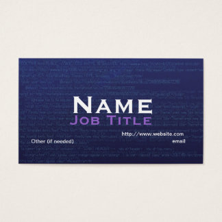 Graphic/Web Designer Business Card