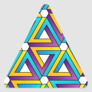 Graphic with Pen rose triangles Triangle Sticker