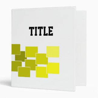 graphic yellow 3 ring binder
